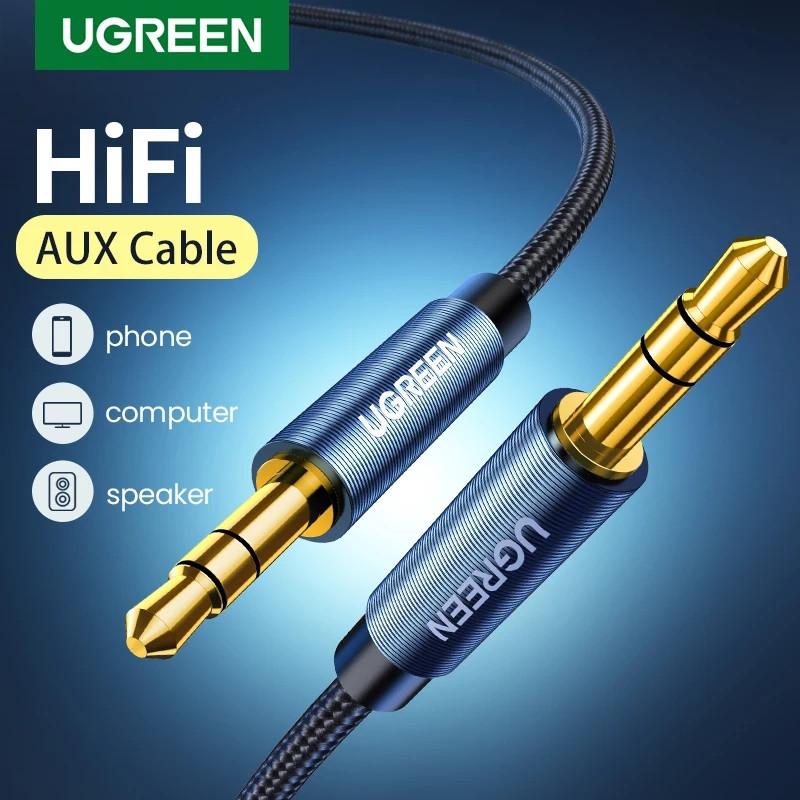 Оригінальний аудіо кабель Ugreen AV112 AUX Jack 3.5 - Jack 3.5 1 метр Blue