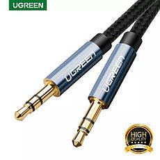 Оригінальний аудіо кабель Ugreen AV112 AUX Jack 3.5 - Jack 3.5 1 метр Blue, фото 3