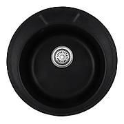 Мийка кухонна HAIBA HB8301-G226 BLACK 490x180 (HB0971)