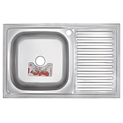 Кухонна мийка накладна ZERIXZ8050L-06-160E (satin) (ZX1612)
