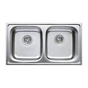 Мийка кухонна HAIBA 78x43 DOUBLE (polish) (HB0568)