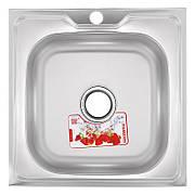 Кухонна мийка накладна ZERIXZ5050-04-160E (satin) (ZX1608)