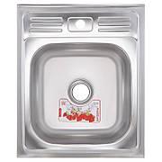Кухонная мойка накладная ZERIXZ5060-04-160E (satin) (ZX1610)