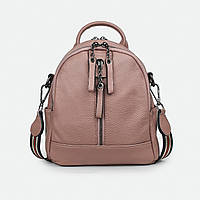 Рюкзак женский из натуральной кожи городской розовый 8-9010 маленький