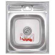 Кухонна мийка накладна ZERIX Z5060-06-160E (satin) (ZX1611)