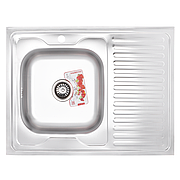 Мойка кухонная ZERIX Z8060L-08-180E (SATIN) (ZS0604)
