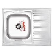 Мойка кухонная ZERIX Z8060L-08-180MD (MICRO DECOR) (ZS0605)