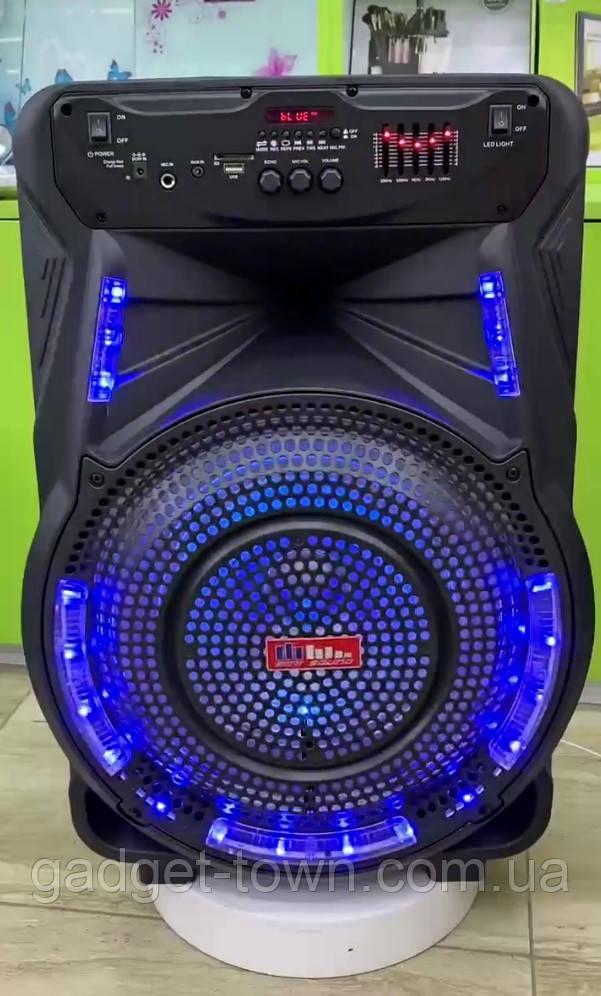 Колонка аккумуляторная Sky Sound-7474 15 дюймов с микрофоном 180W (USB/FM/Bluetooth/TWS)