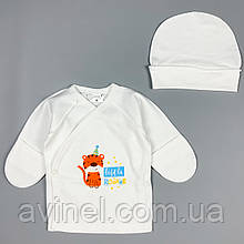 Распашонка, шапка белая Интерлок Marry Bee Украина 56 (р)