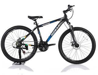 """Велосипед KONAR KA-26""""17, алюминиевая рама 17, колеса 26 дюймов, черно-синий"""