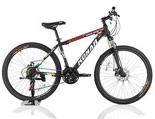 """Велосипед KONAR KA-26""""17, стальная рама 17, колеса 26 дюймов, черно-красный"""