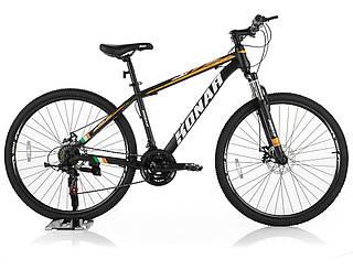 """Велосипед KONAR KA-27.5""""17, стальная рама 17, колеса 26 дюймов, черно-оранжевый"""