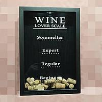 """Скарбничка для винних корків - """"Wine lover scale"""", фото 1"""