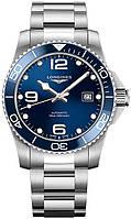 Мужские Часы LONGINES L3.781.4.96.6 Hydro Conquest 41 mm Blue Dial Automatic Ceramics