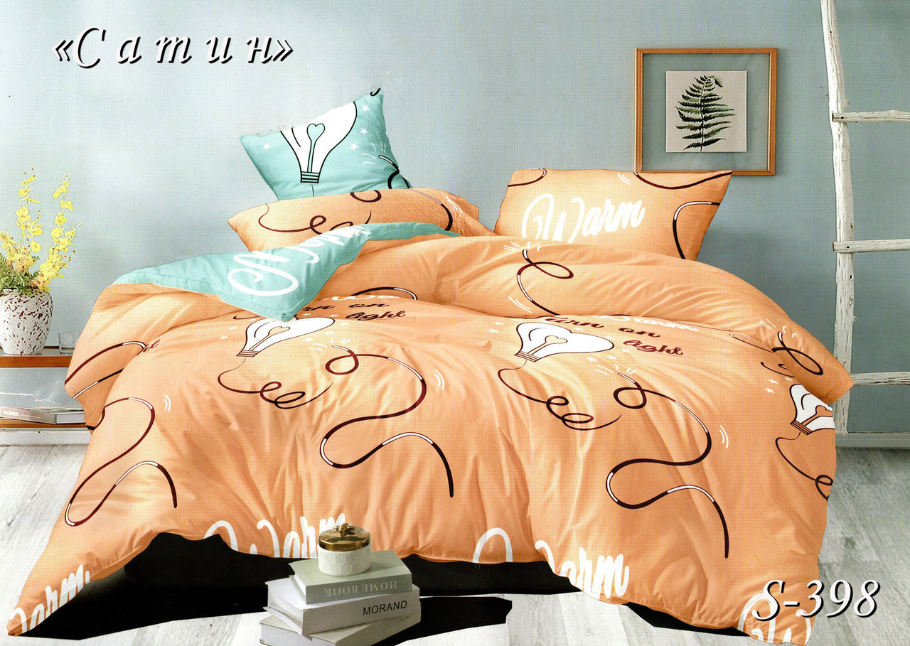 Комплект постельного белья Тет-А-Тет ( Украина ) Сатин двухспальное (S-398)