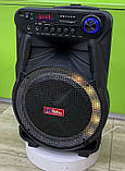 Колонка аккумуляторная Sky Sound-7171 12 дюймов с радиомикрофоном 180W (USB/FM/Bluetooth/TWS), фото 3