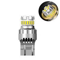 LED T20 W21W лампа в автомобіль, 18+5 SMD 4014 3030, з обманкою, білий