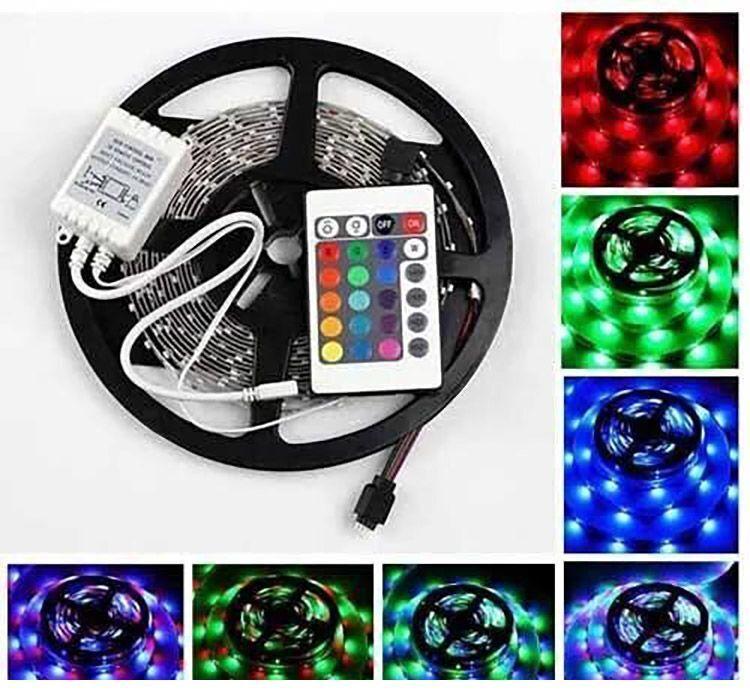 Светодиодная LED лента 5 метров с пультом RGB Music