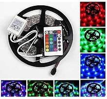 Світлодіодна LED стрічка 5 метрів з пультом RGB Music