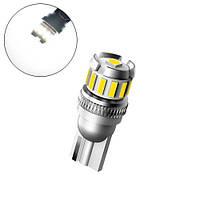 LED T10 W5W лампа в автомобіль, 12+1 SMD 4014 3030, з обманкою, білий