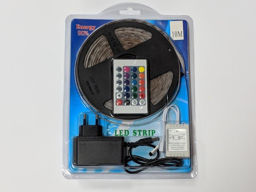 Светодиодная LED лента 5 метров с пультом RGB. Цветная лед лента