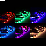 Светодиодная LED лента 5 метров с пультом RGB. Цветная лед лента, фото 5