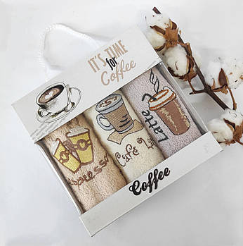 "Набор кухонных полотенец AE 3шт ""Coffee"" 01"