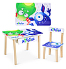 Детский столик деревянный со стульчиком и ящиком Bambi 803-4 Монстры**