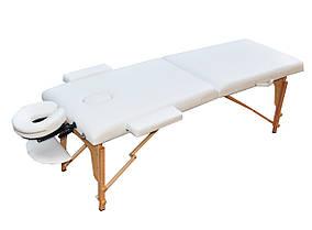 Массажный стол  раскладной ZENET  ZET-1042 WHITE : размер L ( 195*70*61)