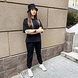 Женский летний костюм футболка+штаны, черный, фото 4