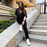 Женский летний костюм футболка+штаны, черный, фото 5