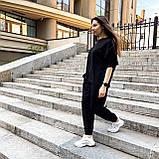 Женский летний костюм футболка+штаны, черный, фото 6