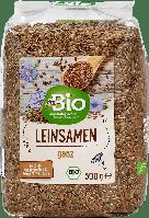 Органическое цельное льняное семя dm Bio Leinsamen ganz, 500 гр