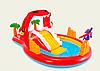 Детский надувной игровой центр бассейн с горкой Intex 57163 Дино