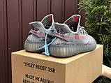 Женские кроссовки Adidas Yeezy Boost 350 v2 серые, фото 2