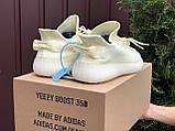 Жіночі кросівки Adidas Yeezy Boost 350 v2 лимонні, фото 3