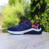 Чоловічі кросівки Puma Hybrid Racer сині з червоним, фото 6