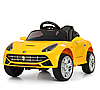 Дитячий електромобіль машина Bambi Racer Ferrari M 3176EBLR-6 жовта**