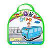 Детская игровая палатка MR 0342 Полицейская машина в сумке голубая