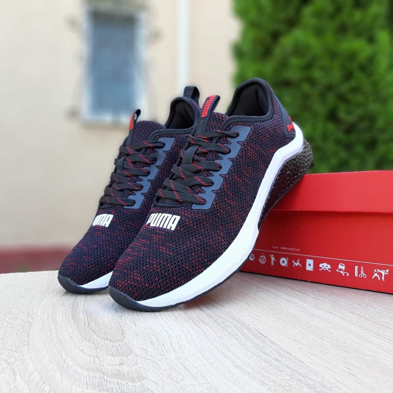Чоловічі кросівки Puma Hybrid чорні з червоним