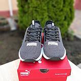 Чоловічі кросівки Puma Hybrid сірі, фото 4