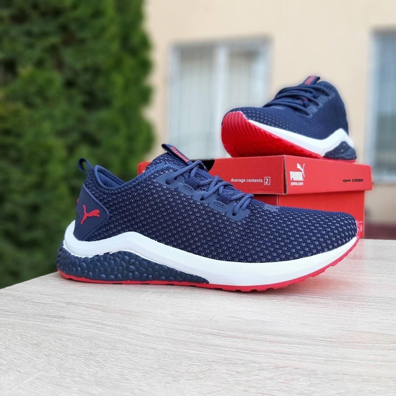 Мужские кроссовки Puma Hybrid Синие с красным