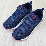Мужские кроссовки Puma Hybrid Синие с красным, фото 4