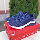 Чоловічі кросівки Puma Hybrid Сині з червоним, фото 7