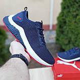 Чоловічі кросівки Puma Hybrid Сині з червоним, фото 8