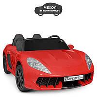 Детский двухместный электромобиль машина в чехле Porsche M 4055AL-3 Без Пульта Управления / цвет красный**