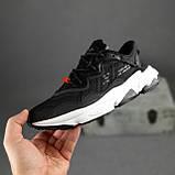 Чоловічі кросівки Adidas Ozweego TR чорні на білому, фото 4