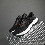 Чоловічі кросівки Adidas Ozweego TR чорні на білому, фото 5