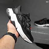 Чоловічі кросівки Adidas Ozweego TR чорні на білому, фото 6
