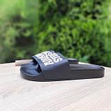 Шльопанці чоловічі Adidas чорні з білим, фото 3